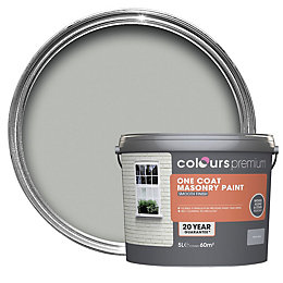 Colours Premium Storm Grey Matt Masonry Paint 5L