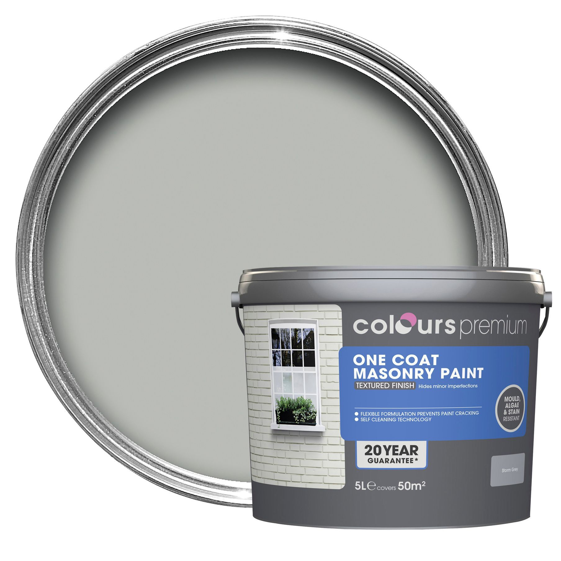 Colours premium one coat pure brilliant white smooth for One coat white paint