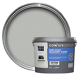 Colours Premium Storm Grey Textured Masonry Paint 5L