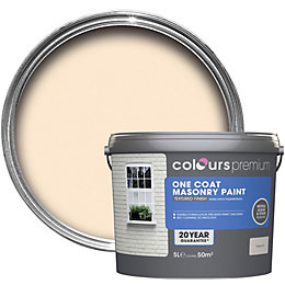 Colours Premium Magnolia Textured Matt Masonry Paint 5L