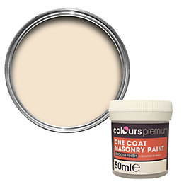 Colours Premium Devon Cream Matt Masonry Paint 50ml