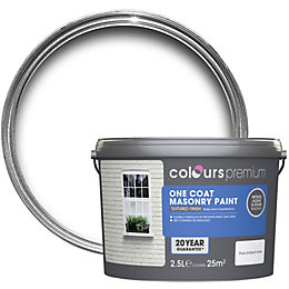Colours Premium Pure Brilliant White Matt Masonry Paint