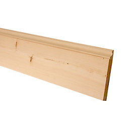 Softwood Mouldings Smooth Skirting (T)19.5mm (W)144mm (L)2400mm,