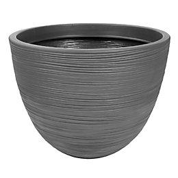 Brook Round Grey Pot (H)37cm (Dia)50cm