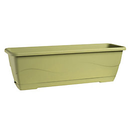 Roe Plastic Green Trough with Tray (H)18cm (L)58.5cm