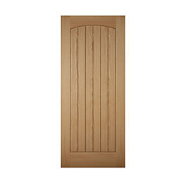 Cottage Panelled White Oak Veneer Front Door, (H)1981mm