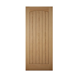 Cottage Panelled White Oak Veneer Front Door, (H)2032mm