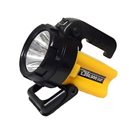 Diall Rechargeable 150lm Plastic LED Black & Yellow