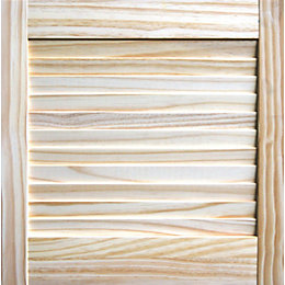 Closed Louvre Pine Internal Door, (H)457mm (W)457mm