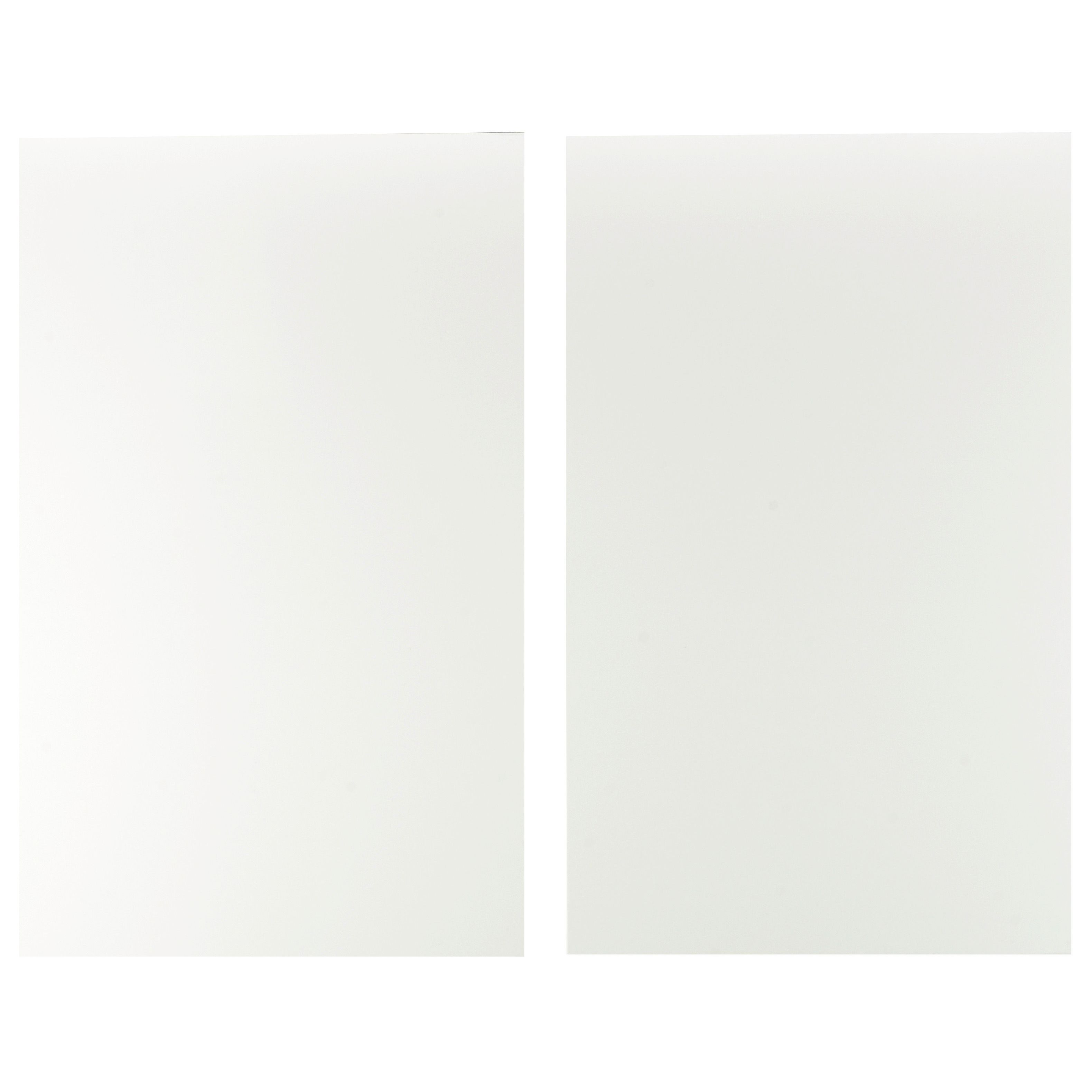 It Kitchens Sandford Ivory Style Slab Larder Door (w)600mm, Set Of 2