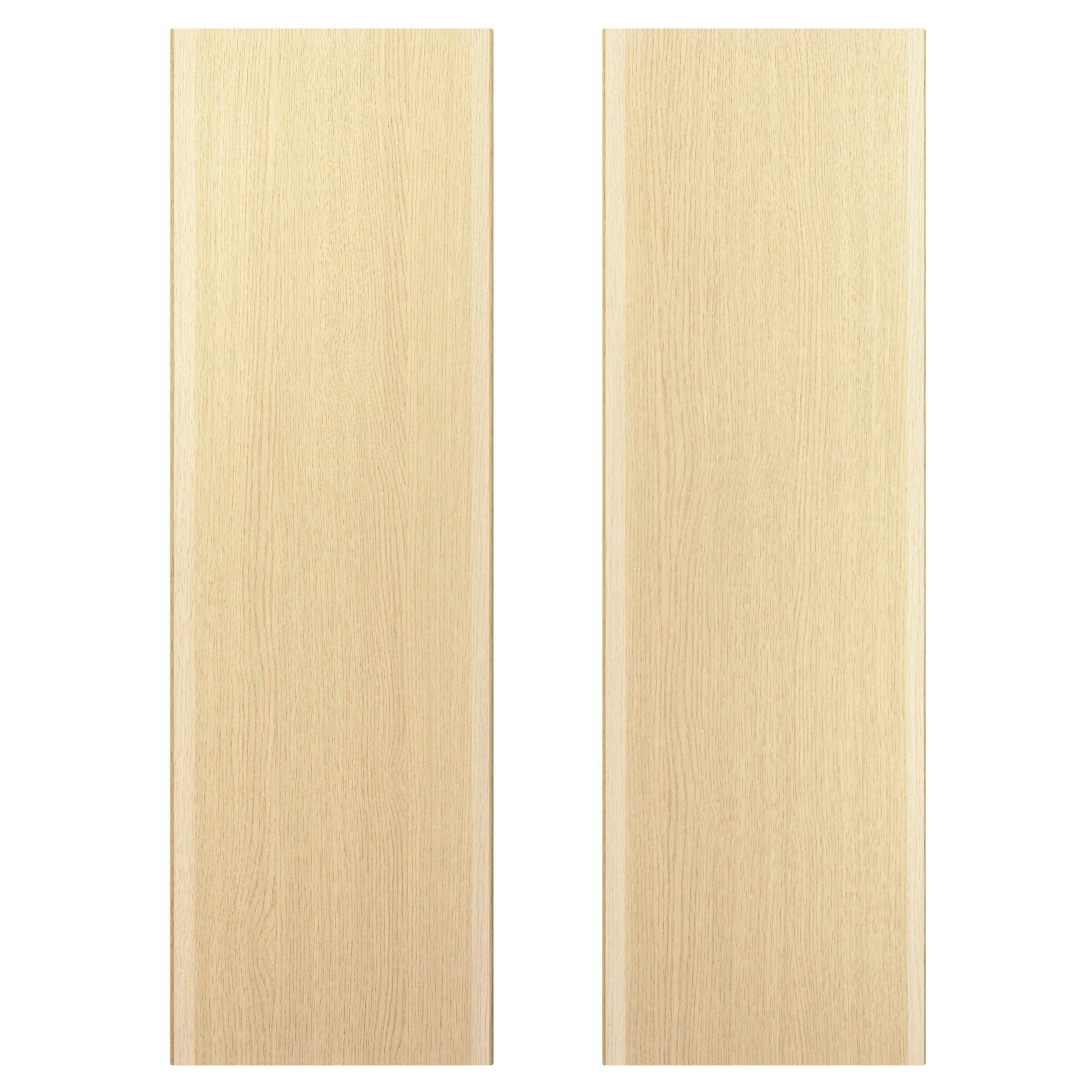 It Kitchens Sandford Textured Oak Effect Slab Larder Door (w)600mm, Set Of 2