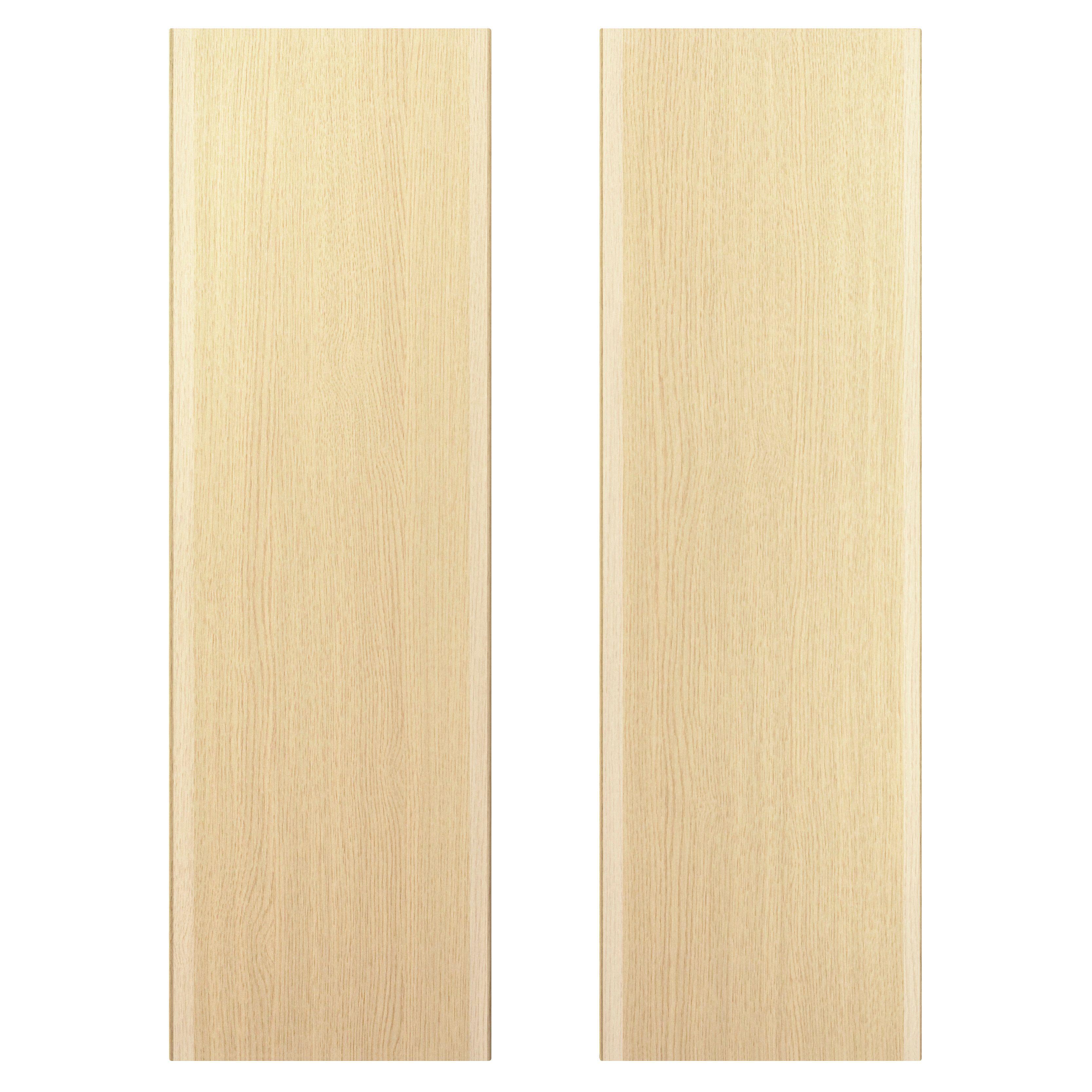 It Kitchens Sandford Textured Oak Effect Slab Larder Door (w)300mm, Set Of 2