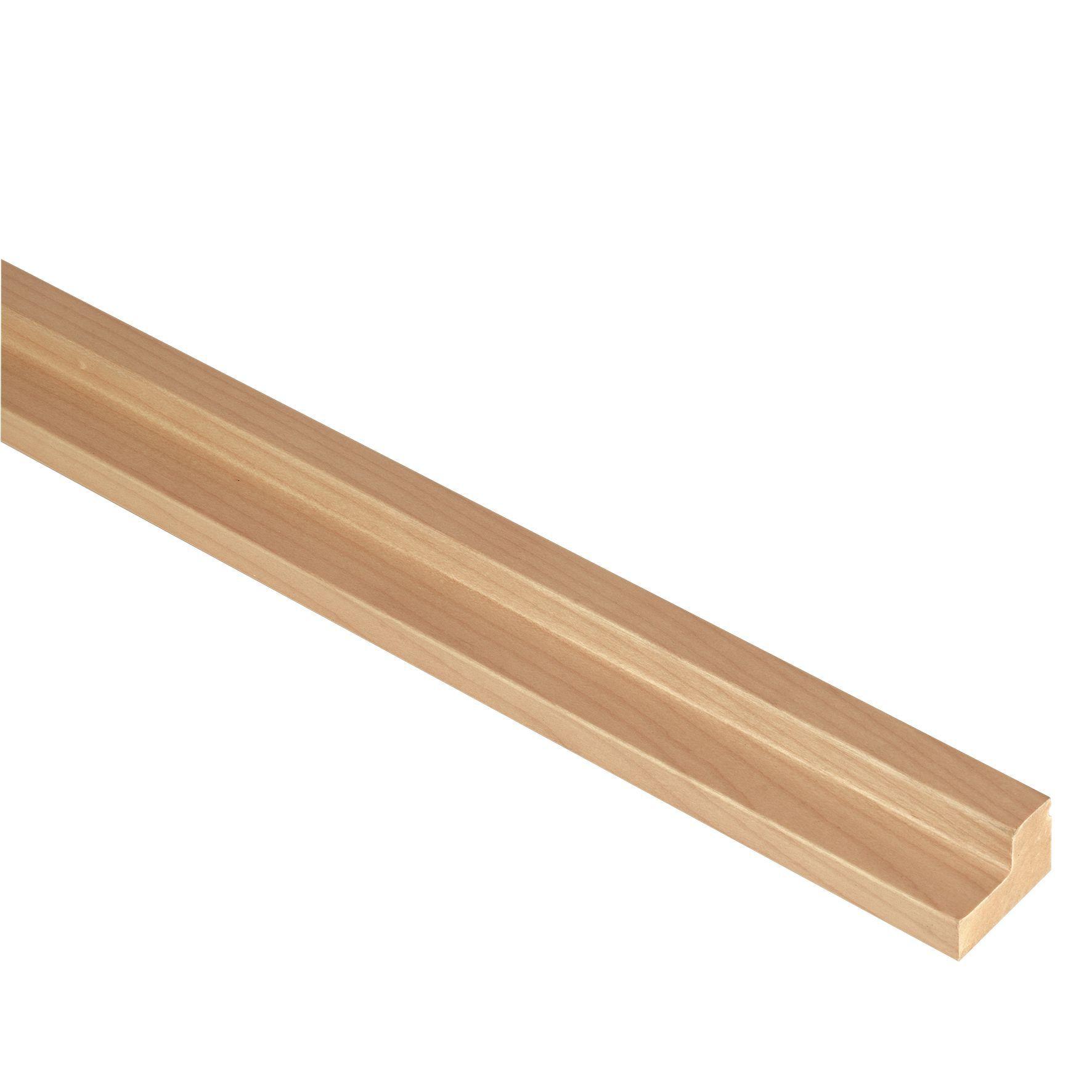 it kitchens matt natural oak effect straight cornice pelmet l