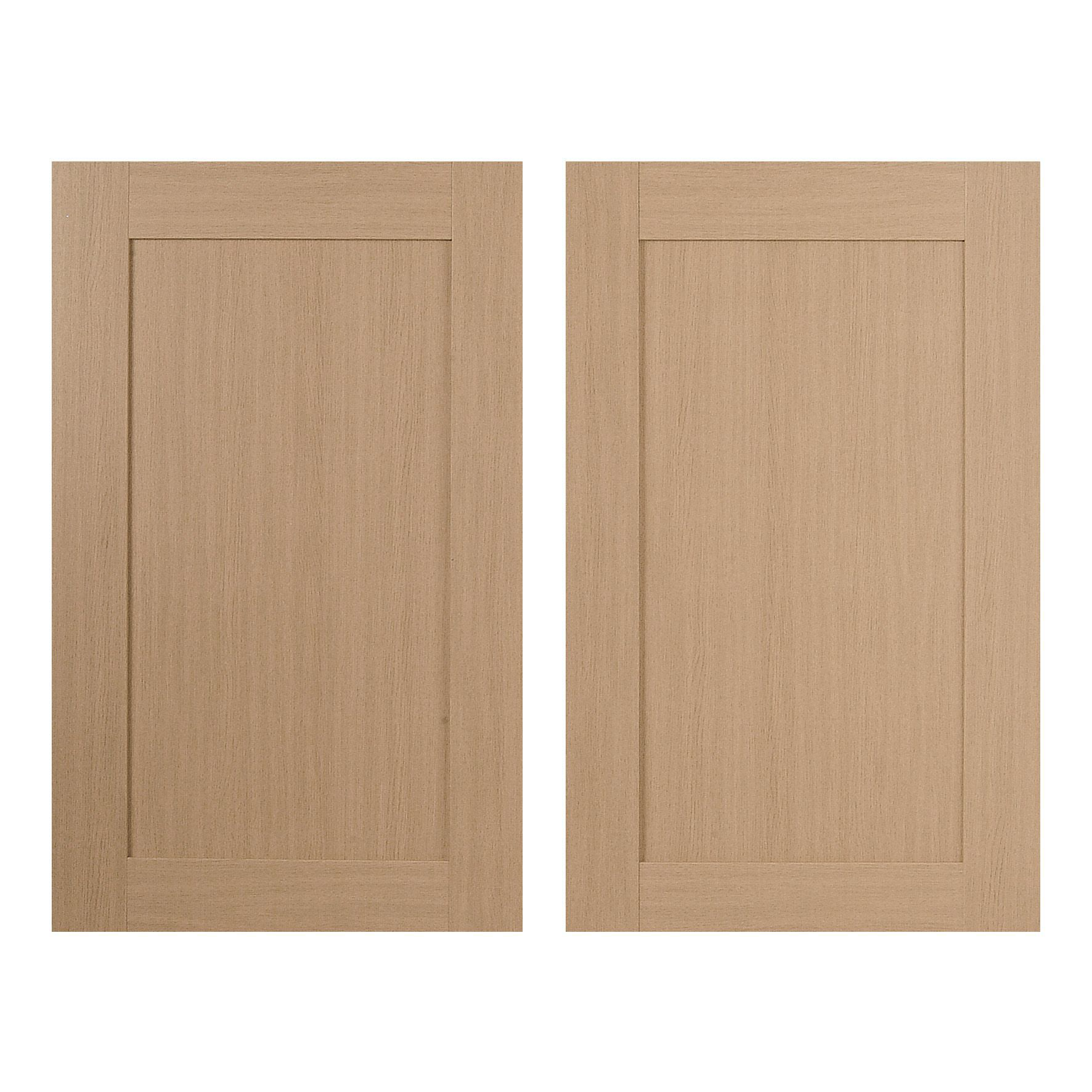 It Kitchens Westleigh Textured Oak Effect Shaker Larder Door (w)600mm, Set Of 2