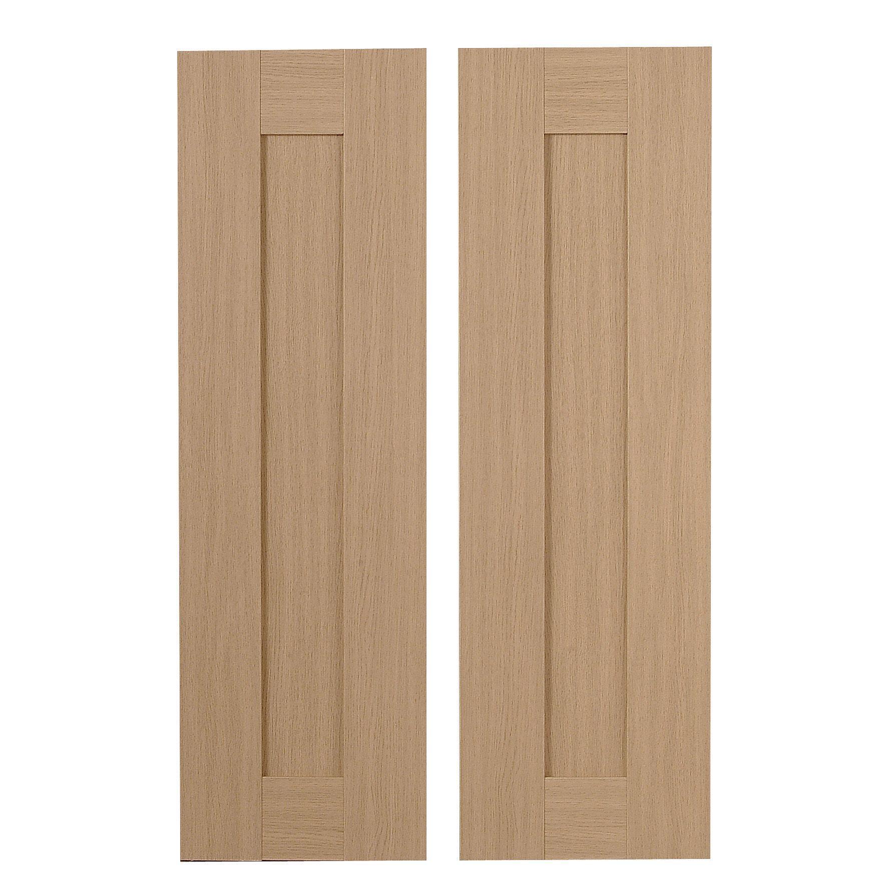 It Kitchens Westleigh Textured Oak Effect Shaker Larder Door (w)300mm, Set Of 2