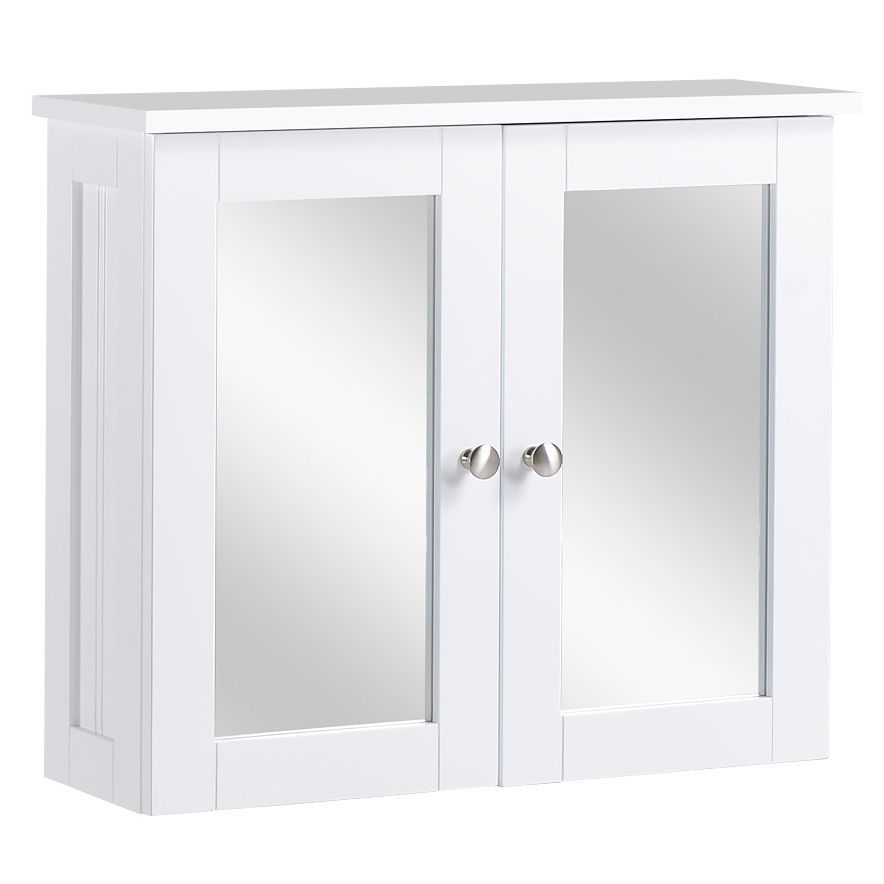 Cino single door white mirror cabinet departments diy for White mirrored cabinet