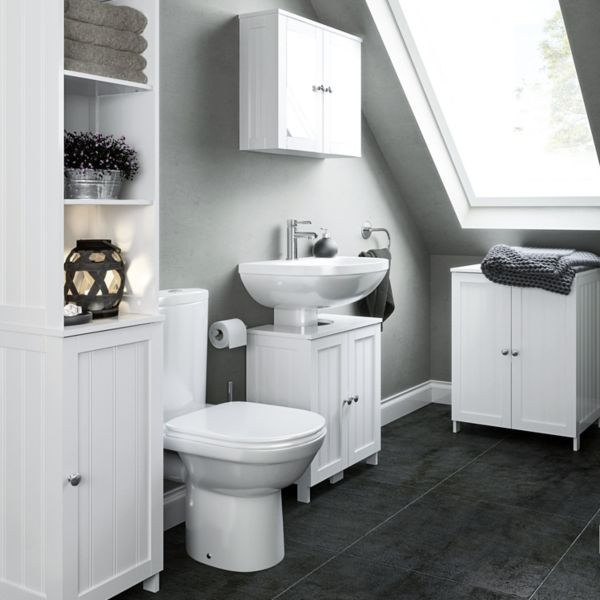nicolina freestanding bathroom furniture - Bathroom Cabinets B Q