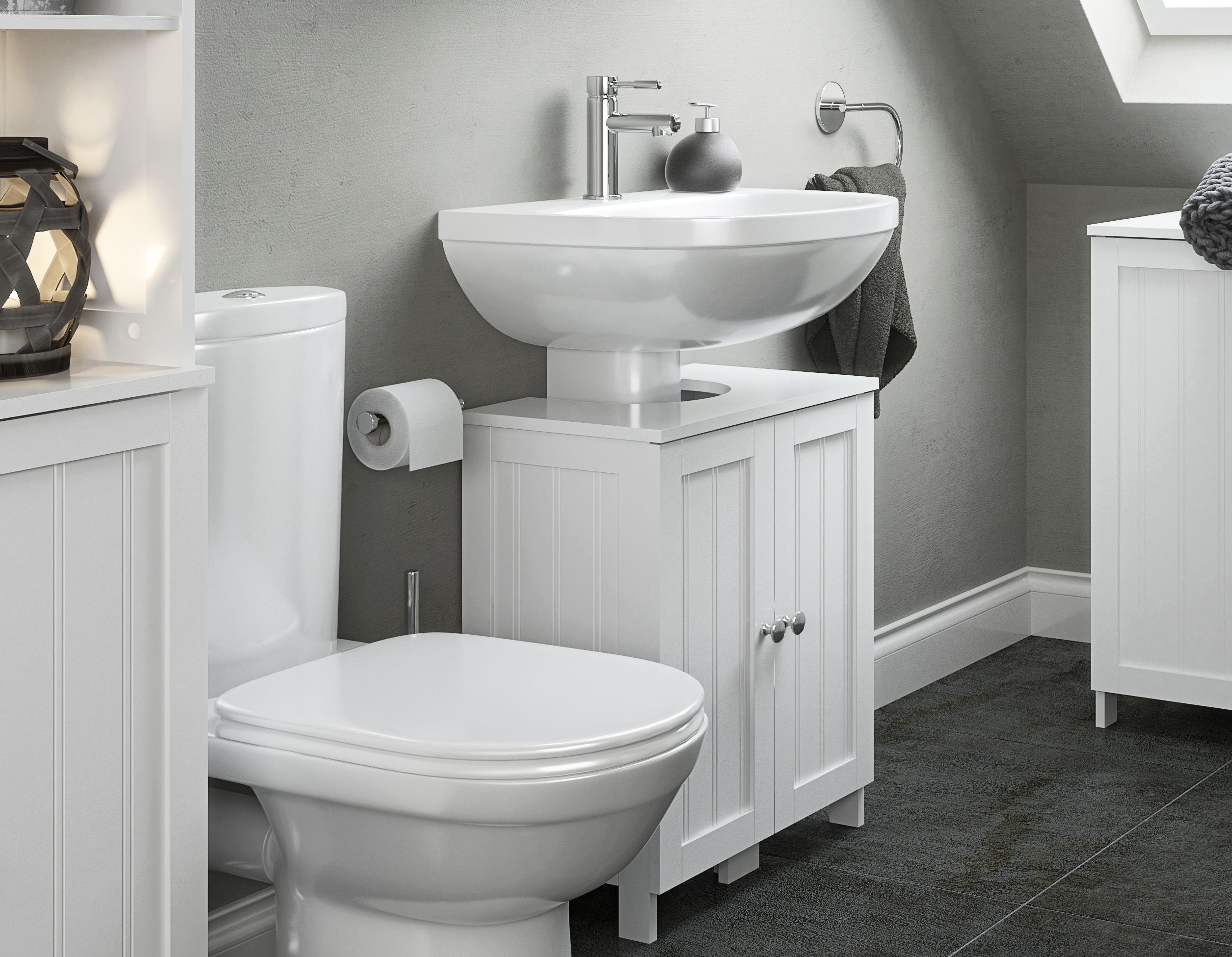 How to maximise storage space in your bathroom help for Bathroom storage ideas b q