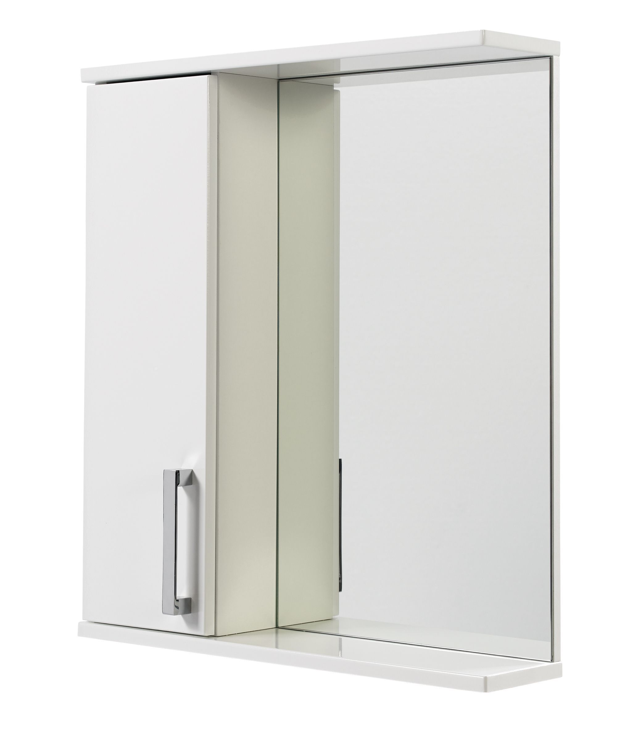 Ardenno Single Door White Gloss Mirror Cabinet