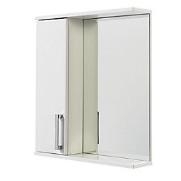 Ardenno Single Door White Gloss Mirror Cabinet