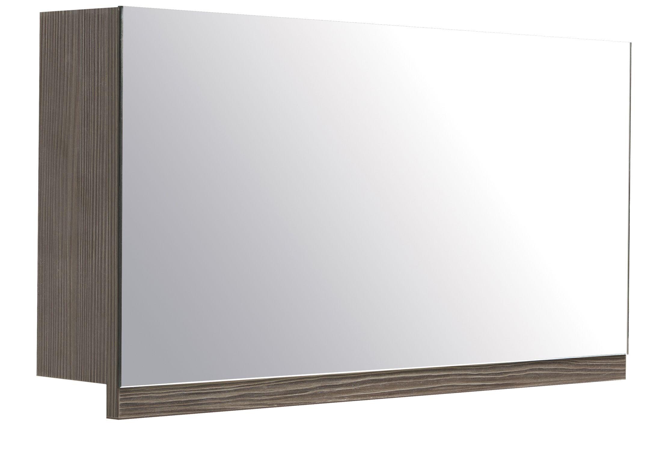 cooke lewis ardesio single door bodega grey mirror cabinet