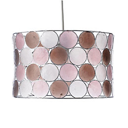Colours Gilort Pink & Natural Circles Lamp Shade