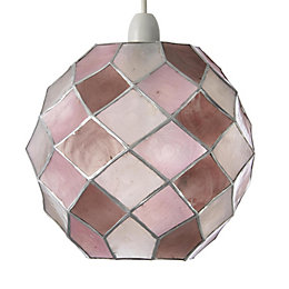 Colours Maringa Pink Diamond Lamp Shade (D)22.5cm