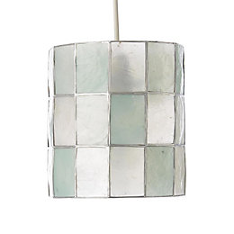 colours cabriol duck egg cylinder lamp shade d16cm - Rectangular Lamp Shades