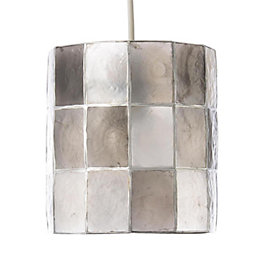 Colours Cabriole Grey Cylinder Lamp Shade (D)16cm