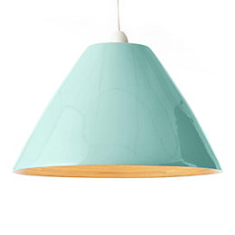 Colours Cruse Duck Egg Painted Lamp Shade (D)35cm