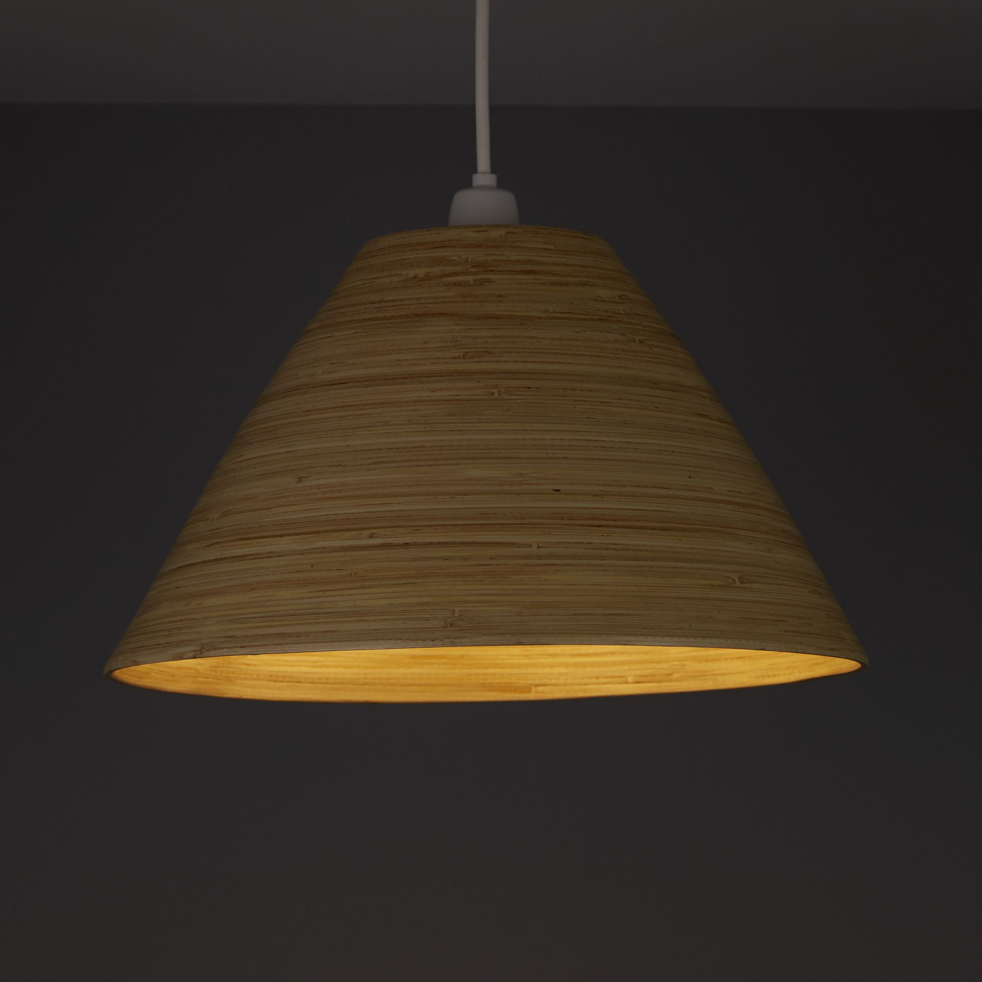 Colours Cruse Natural Bamboo Lamp Shade (D)350mm | Departments | DIY at B&Q