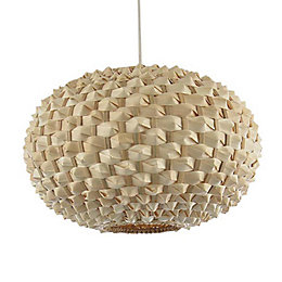 Colours Bolsena Beige Hedgehog Lamp Shade (D)30cm