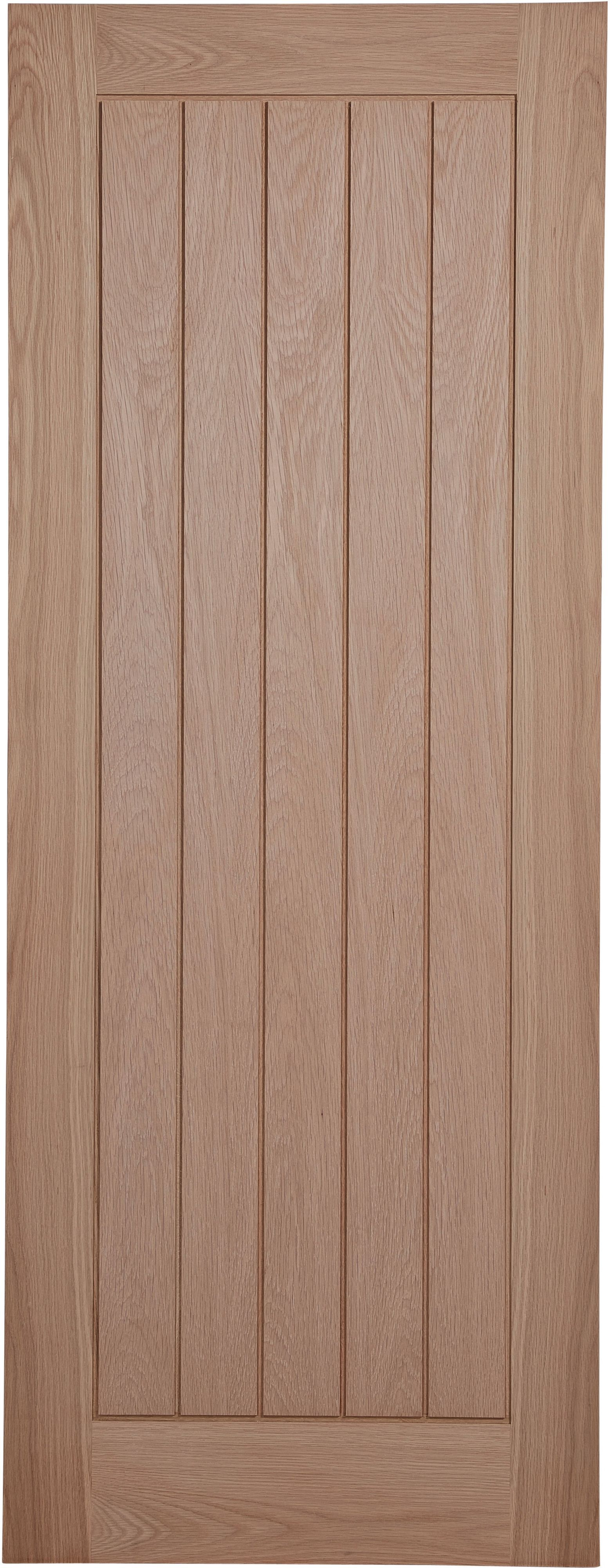 Cottage Panel Prefinished Oak Unglazed Internal Standard Door, (h)1981mm (w)762mm