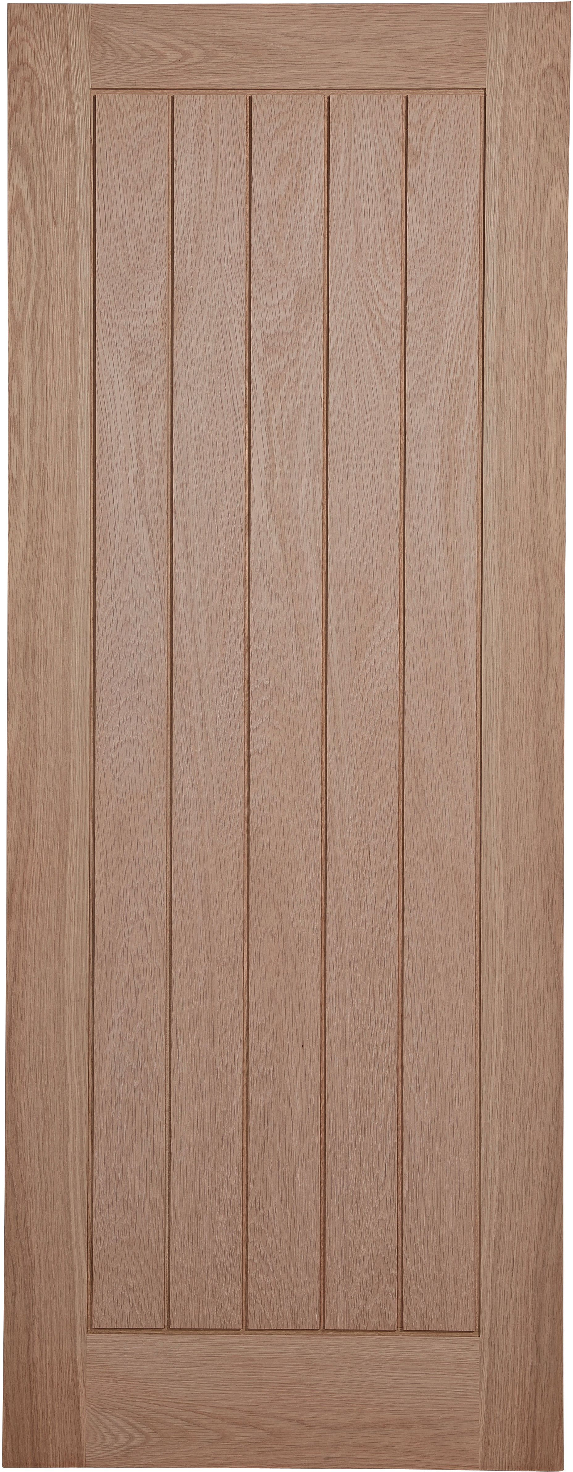 Cottage Panel Prefinished Oak Unglazed Internal Standard Door, (h)1981mm (w)686mm