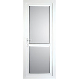 Mid Bar PVCu Fully Glazed Back Door &