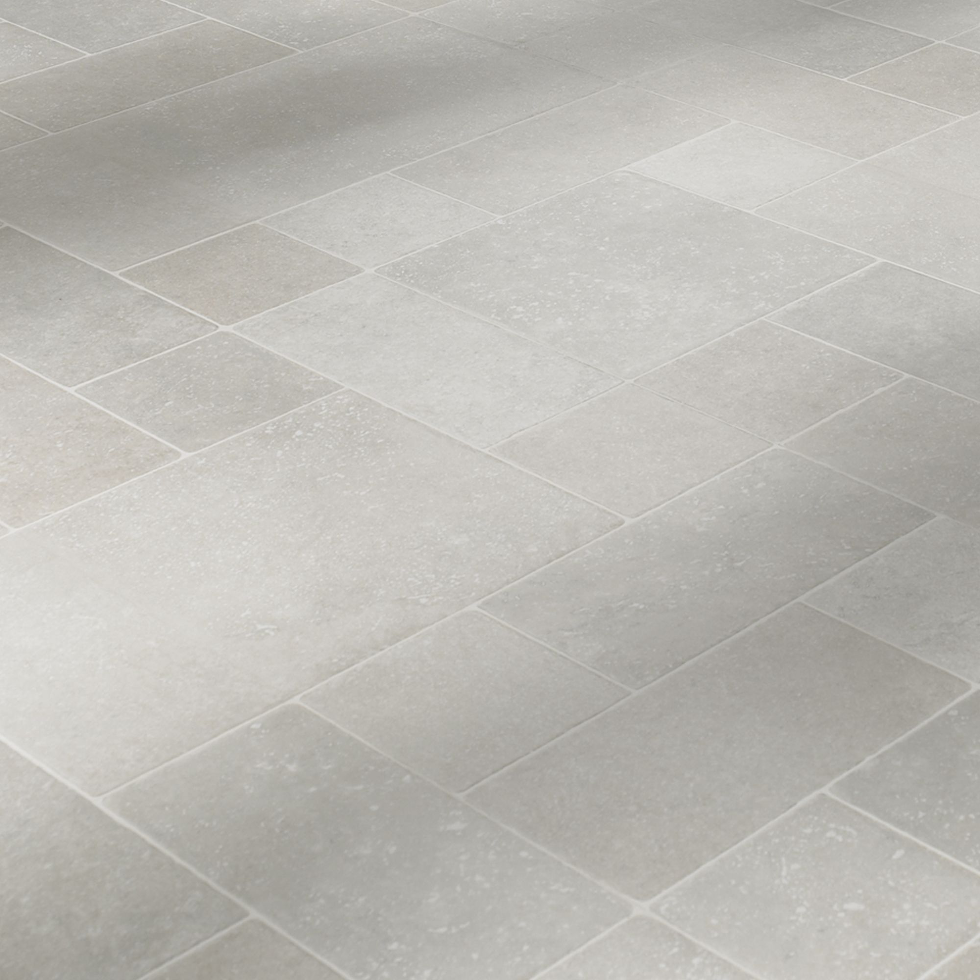 Barbarita Grey Limestone Effect Laminate Flooring 1.86 m Pack |  Departments | DIY at B&Q