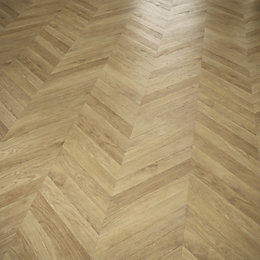 Alessano Natural Herringbone Oak Effect Laminate Flooring 1.39