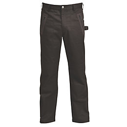 "Rigour Black Worker Trousers W36"" L32"""