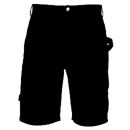 Rigour Black Work Shorts W38""