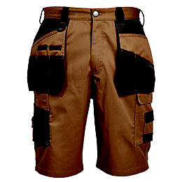 Rigour Brown Holster Pocket Shorts W38""