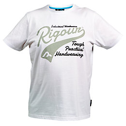 Rigour White T-Shirt Medium