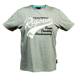 Rigour Grey Marl T-Shirt Small