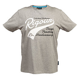 Rigour Grey Marl T-Shirt Medium