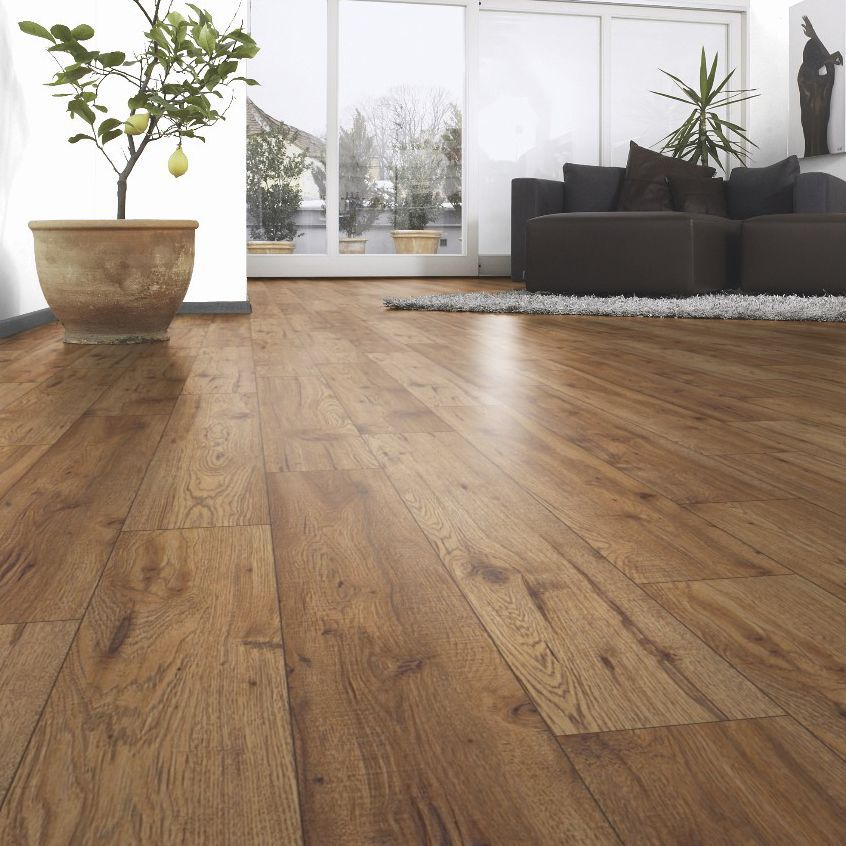 Ostend natural oxford oak effect laminate flooring m for White hardwood floors design ideas