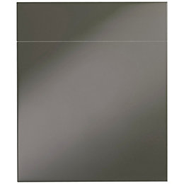 Cooke & Lewis Raffello High Gloss Anthracite Slab