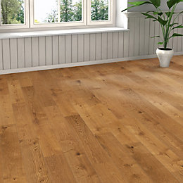 Colours Monito Smoked Oak Oak Real Wood Top