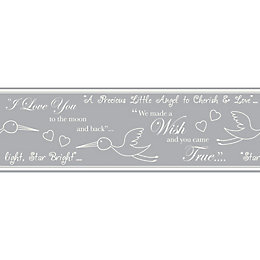 Baby Colours Little Wish Silver Border