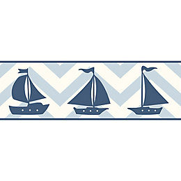 Baby Colours Little Sailor Blue Border