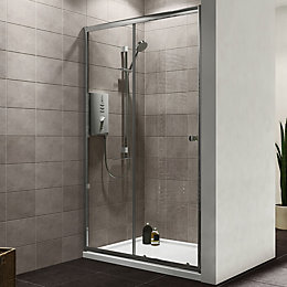 Plumbsure Single Sliding Shower Door (W)1200mm
