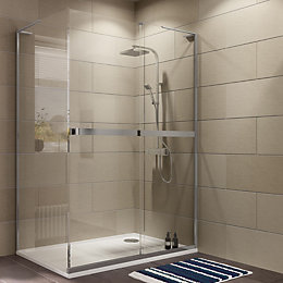Cooke & Lewis Grandeur Rectangular Shower Enclosure (W)1400mm